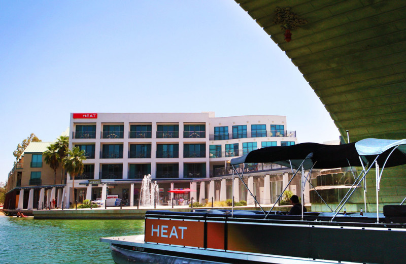 Exterior view of Heat Hotel.