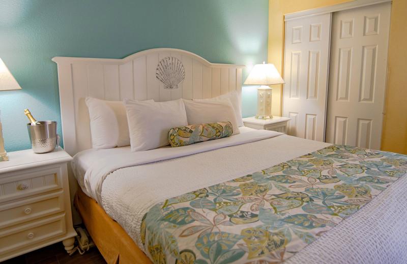 Guest room at Monterey Bay Suites.