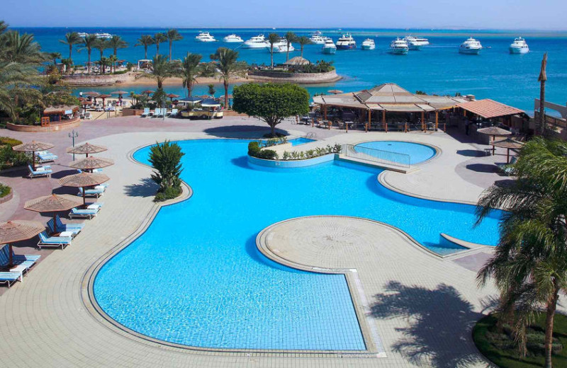 Outdoor pool at Hurghada Marriot Beach Resort.