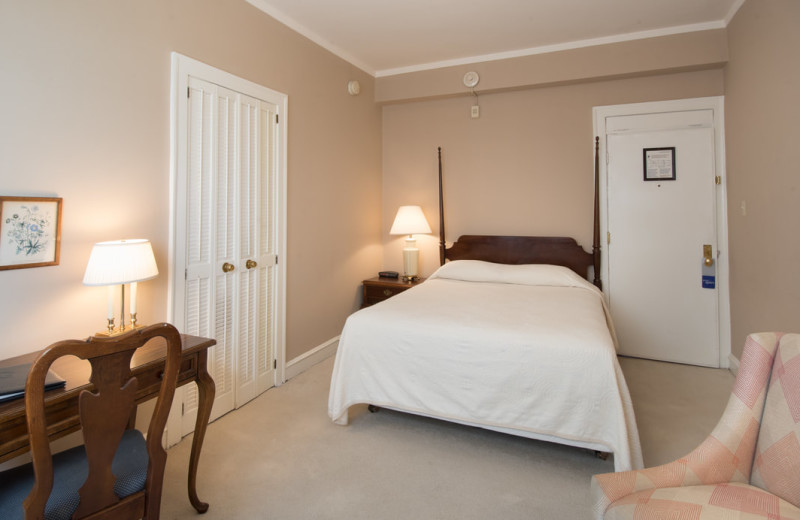 Guest room at The Homestead.