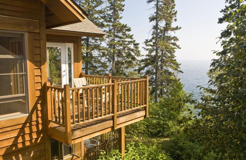 Condo exterior at Lutsen Resort on Lake Superior.