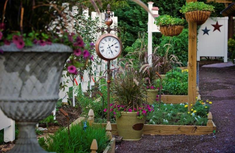 Garden at The Inn at Leola Village.