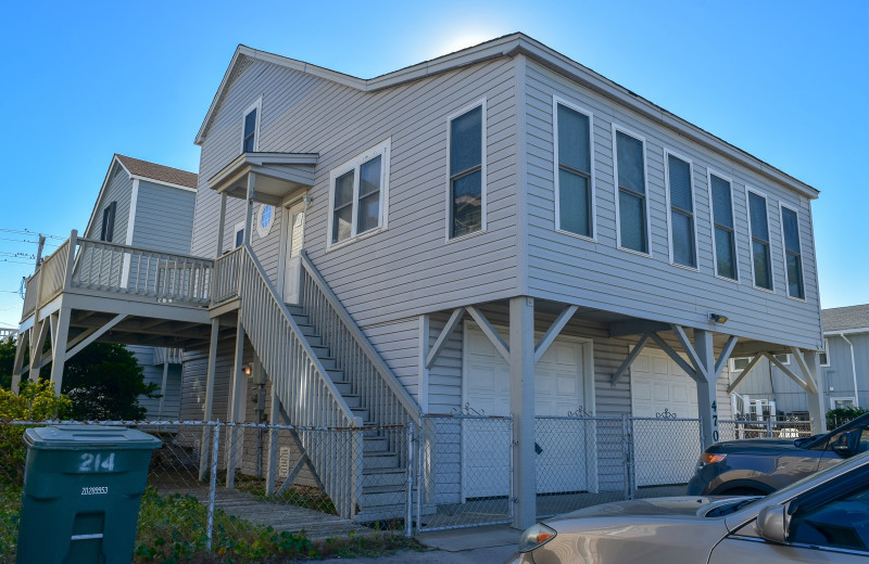Rental exterior at Seaside Vacations.