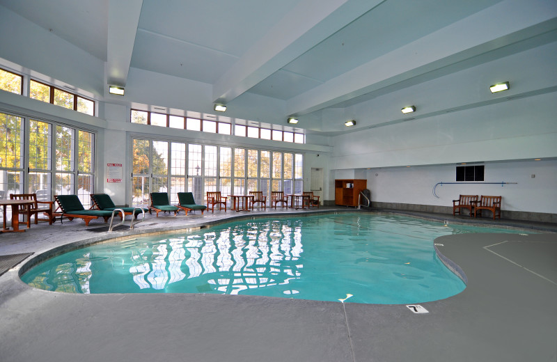 Indoor swimming pool at Lakeside Lodge & Suites.