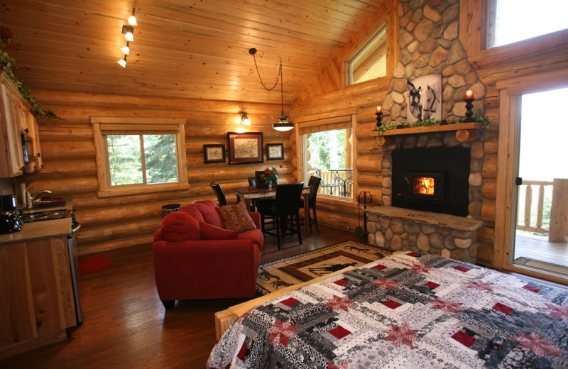 Cabin interior at Western Pleasure Guest Ranch.