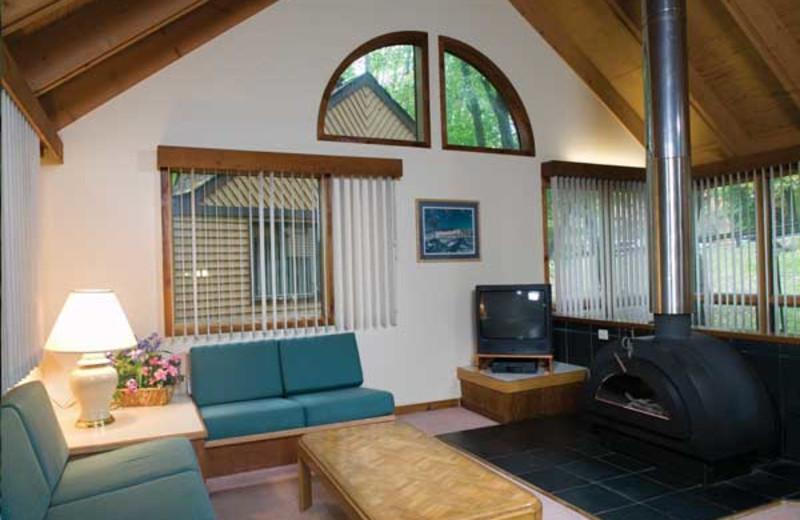 Vacation rental living room at Wyndham Vacation Resorts Shawnee Village.