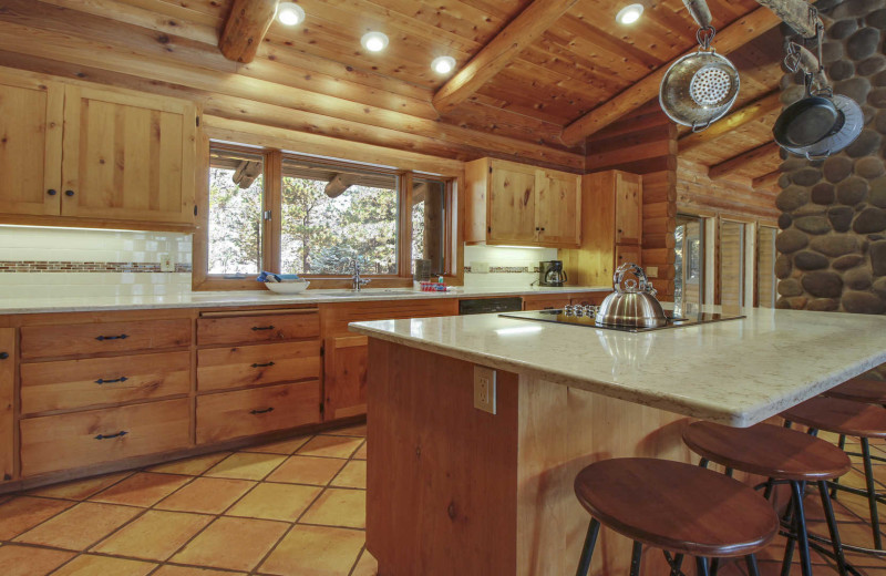 Rental kitchen at Mountain Resort Properties.