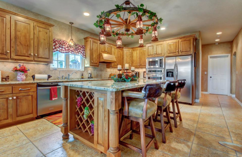 Rental kitchen at Vacasa Fredricksburg.