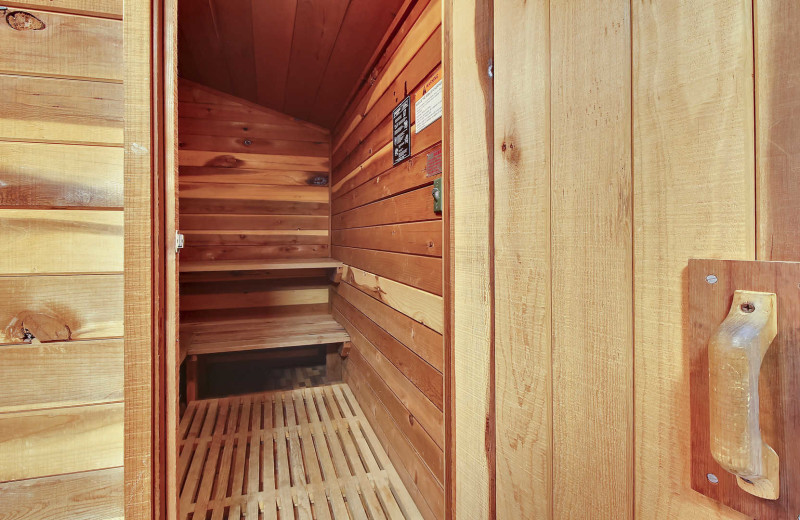 Rental sauna at Mountain Resort Properties.