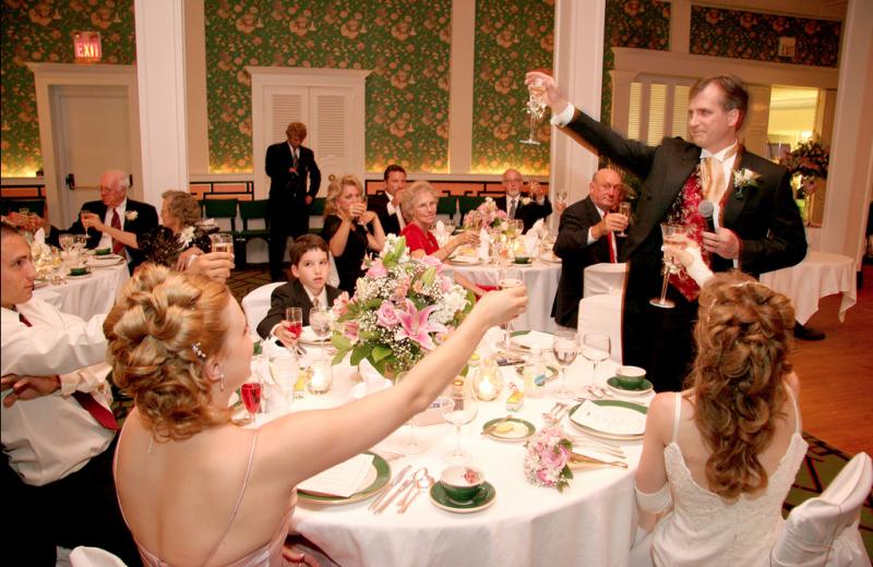 Wedding reception at Grand Hotel.
