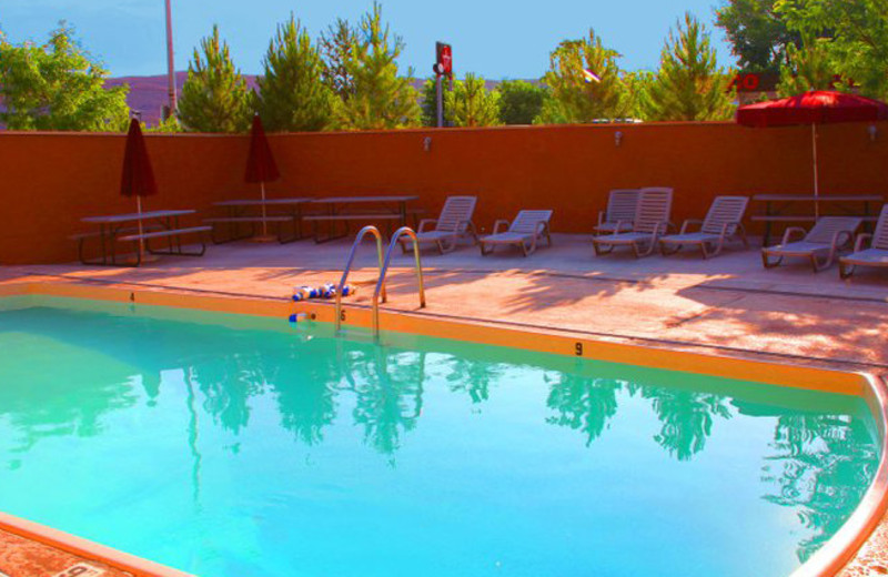 Outdoor pool at Big Horn Lodge.