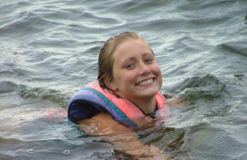 Swimming in the Lake at  Bear's Nine Pines