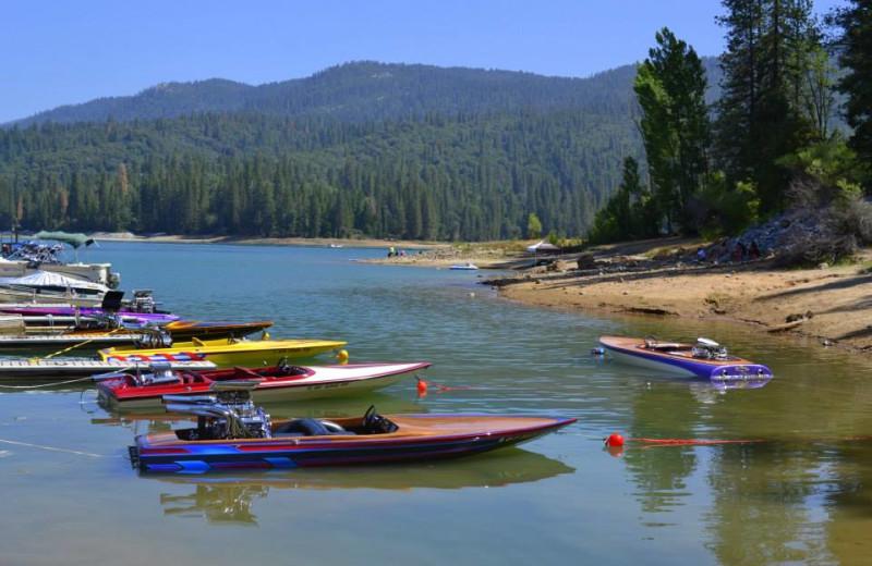 Boating at Miller's Landing Resort.
