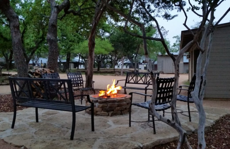 Fire pit at Canyon of the Eagles.