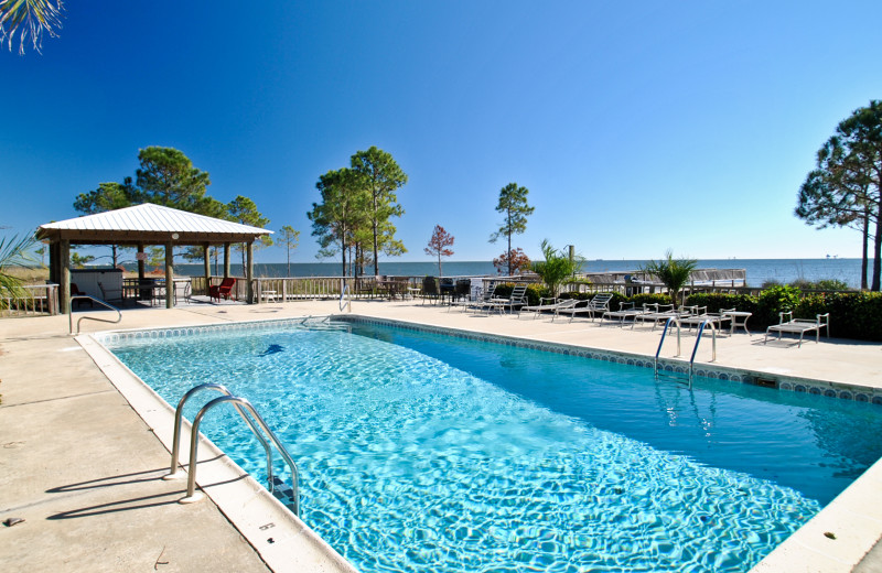 Rental pool at Dauphin Island Beach Rentals, LLC.