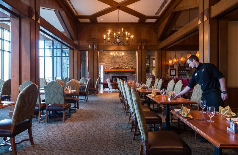 Dining at The Lodge at Woodloch.