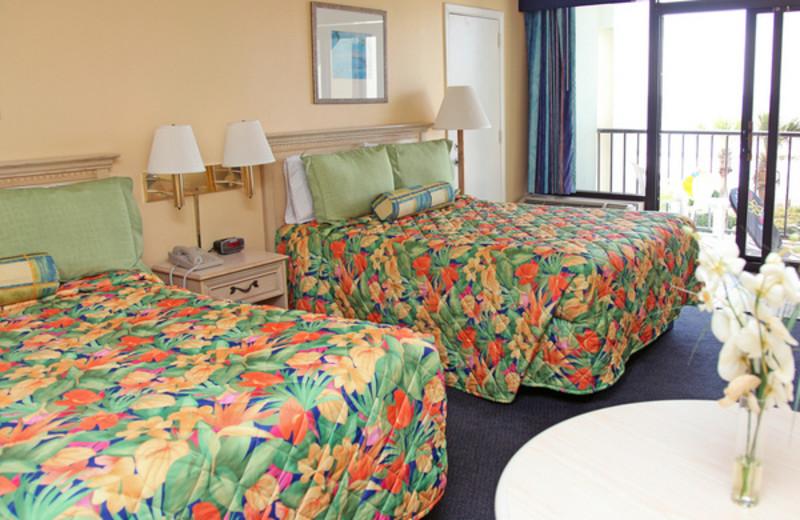 Vacation rental bedroom at Grande Shores Ocean Resort.
