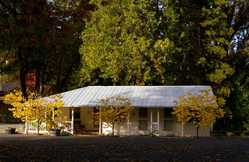 Cottage exterior view of Sugar Pine Ranch.