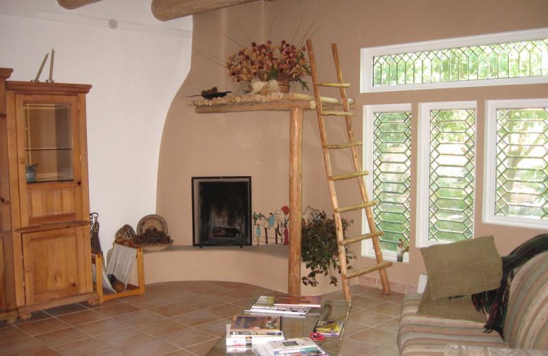 Living room at Sarabande Bed & Breakfast.