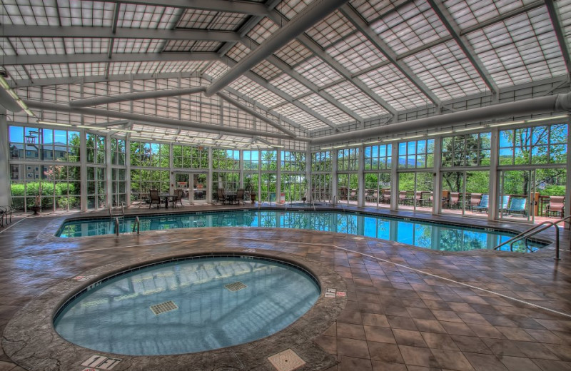 Indoor pool area at Riverstone Resort & Spa.