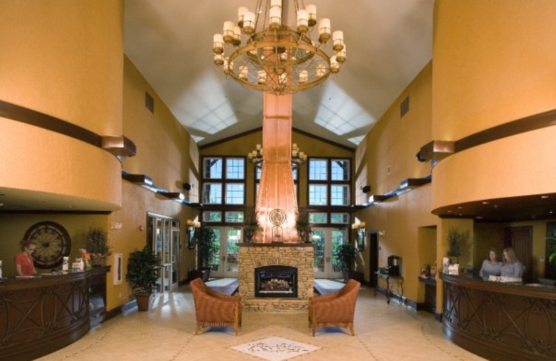 Lobby area at RiverStone Resort.