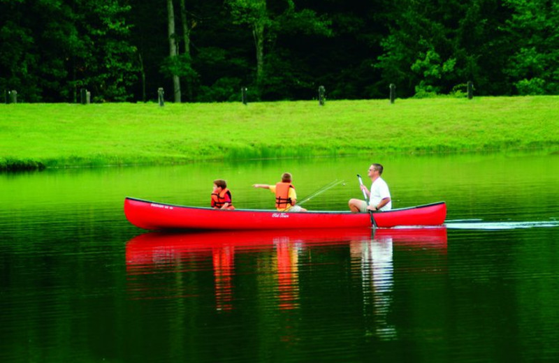 Canoeing Fun at The Resort at Glade Springs