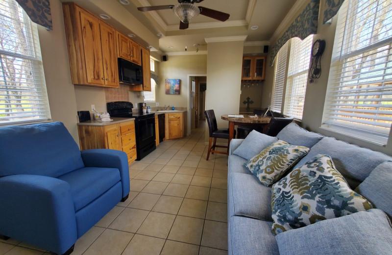 Cottage interior at Mill Creek Ranch Resort.