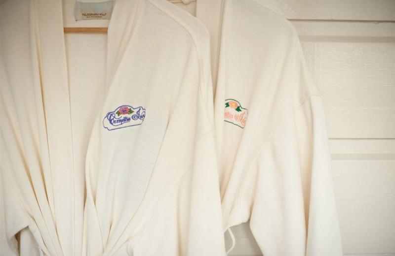 Guest bath robes at Camellia Inn.