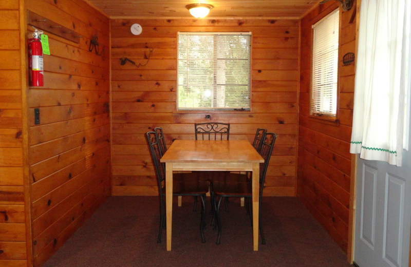 Cabin dining room at YMCA Camp Northern Lights.