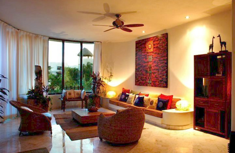 Vacation rental living room at Condo Hotels Playa Del Carmen.