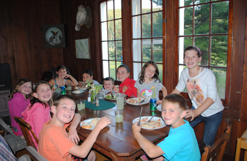 The kids table at meal time