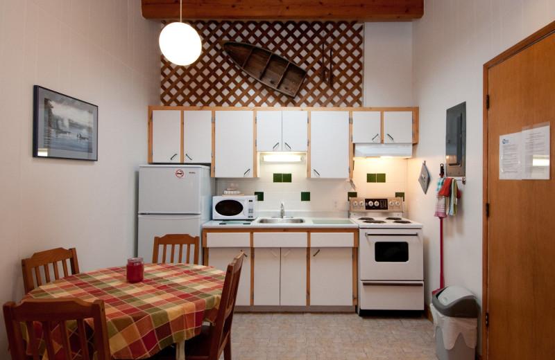 Cottage kitchen at Blue Vista Resort.