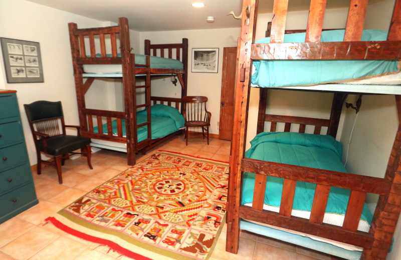 Rental bunk beds at Stowe Country Homes.