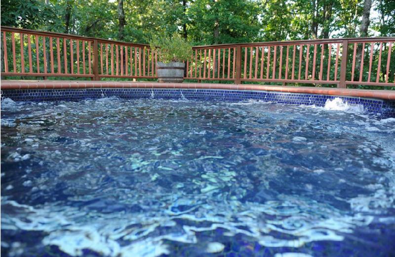 Outdoor hot tub at Dahlonega Spa Resort.