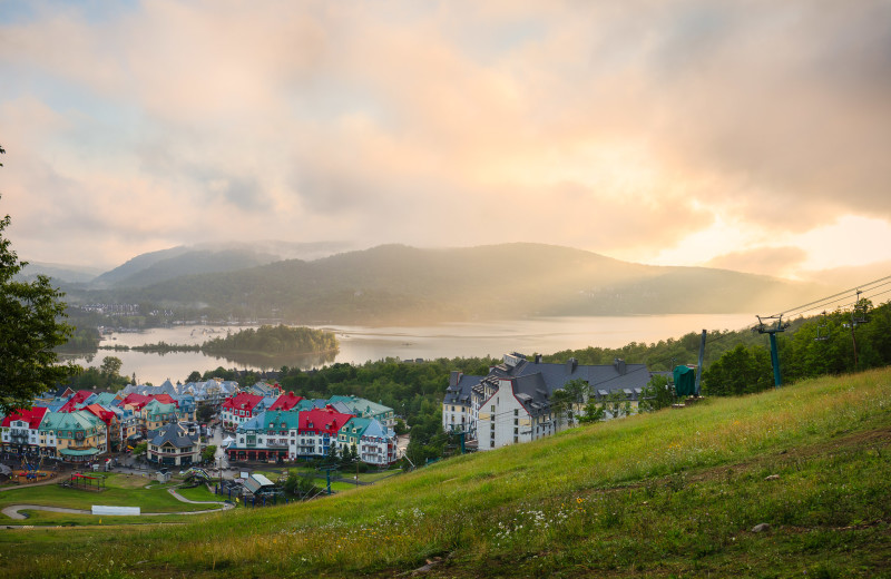 Sunset at Fairmont Tremblant Resort.