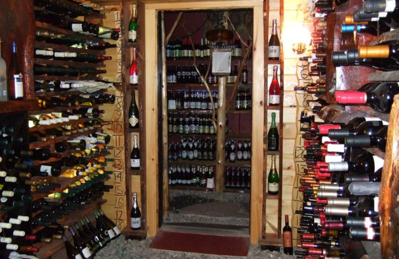 Wine cellar at Hohmeyer's Lake Clear Lodge.