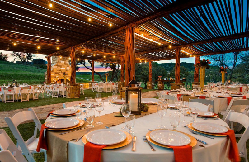 Wedding reception at Tapatio Springs Hill Country Resort.