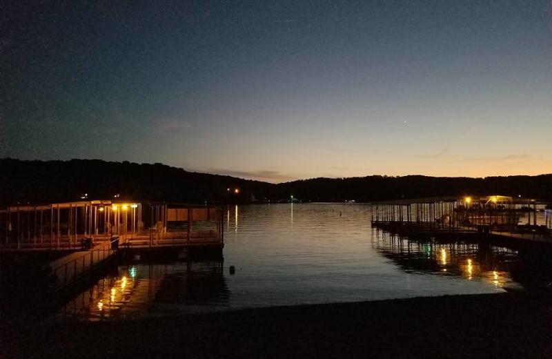 Lake view at Kon Tiki Resort.