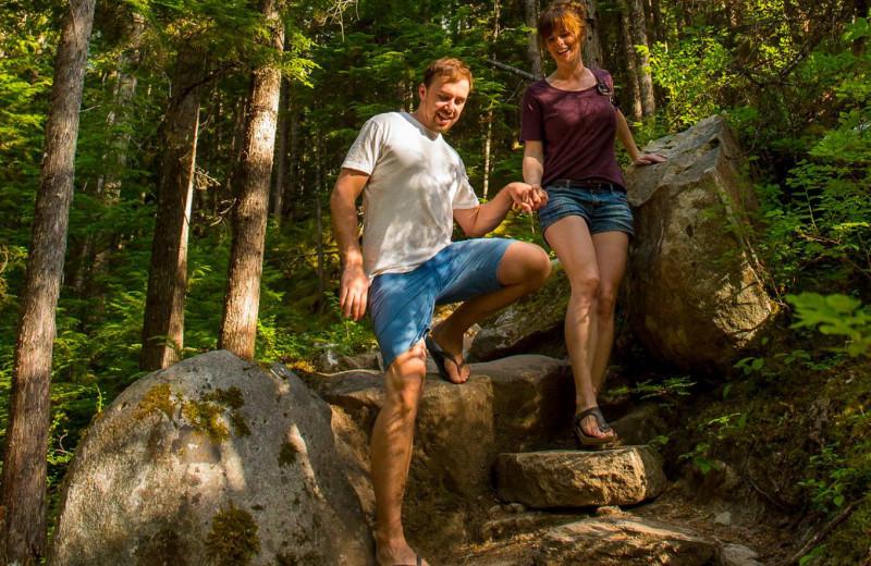Couple at The Lodge at Arrow Lakes.