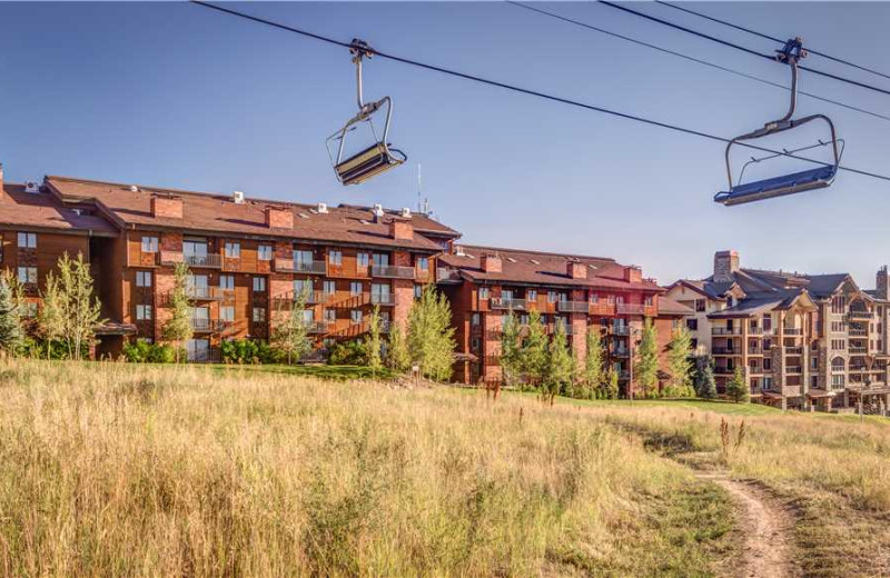Ski lift at Bear Claw Condominiums.
