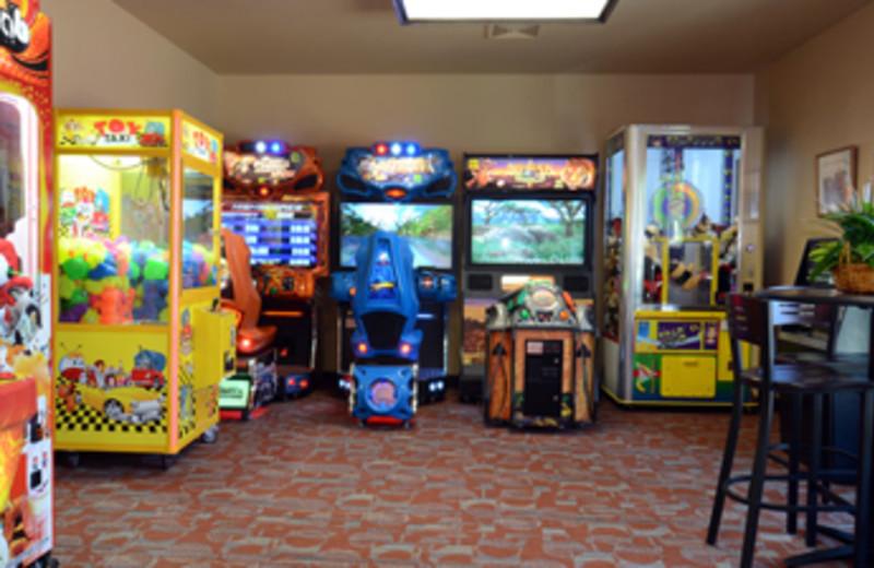 Video arcade at Baker's Sunset Bay Resort.
