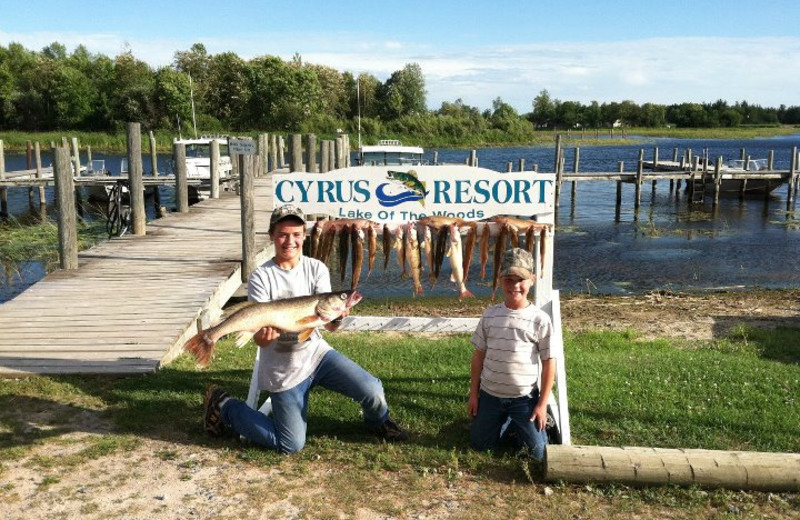 Fishing at Cyrus Resort.