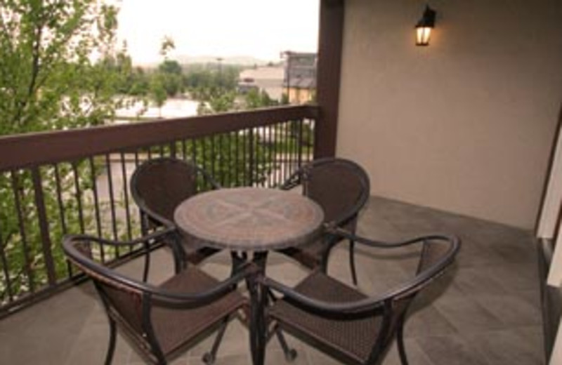 Private Patio at The Inn at Christmas Place
