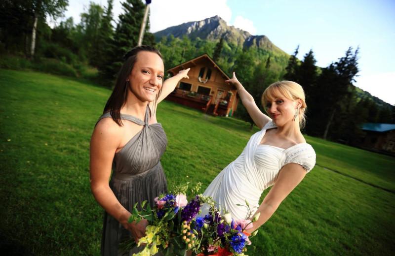Weddings at Alaska Heavenly Lodge.