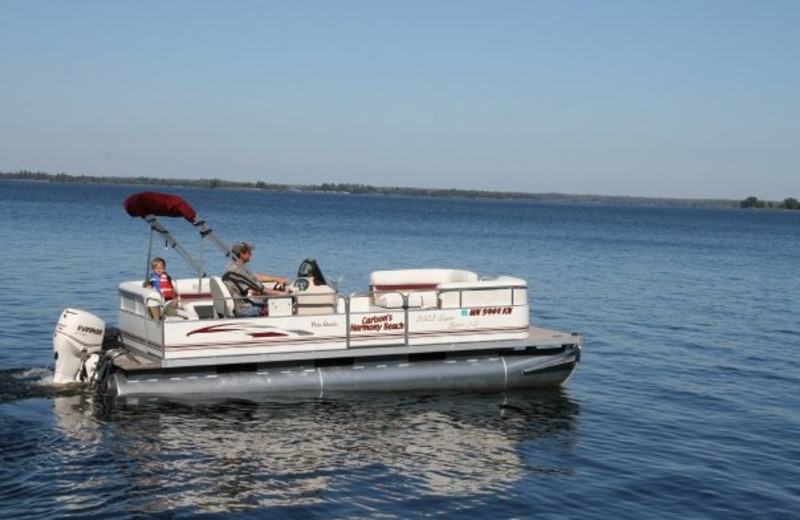 Boating at Krueger's Harmony Beach Resort.