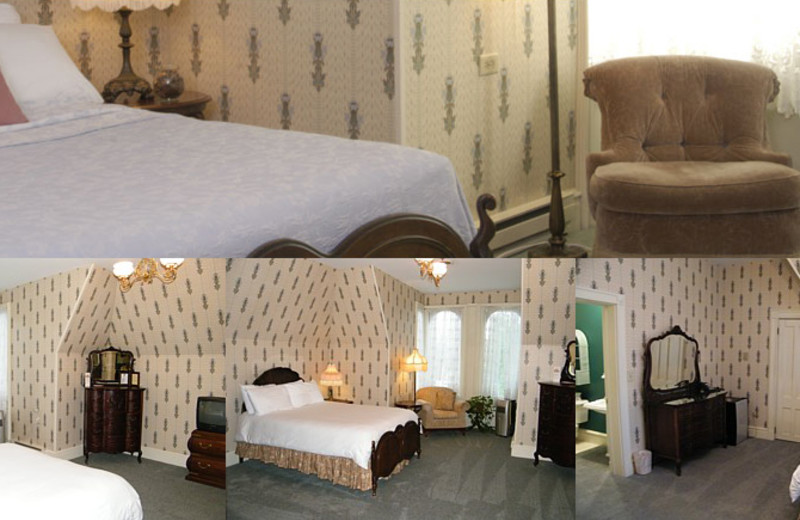 President Harrison room at Batcheller Mansion Inn Bed and Breakfast.