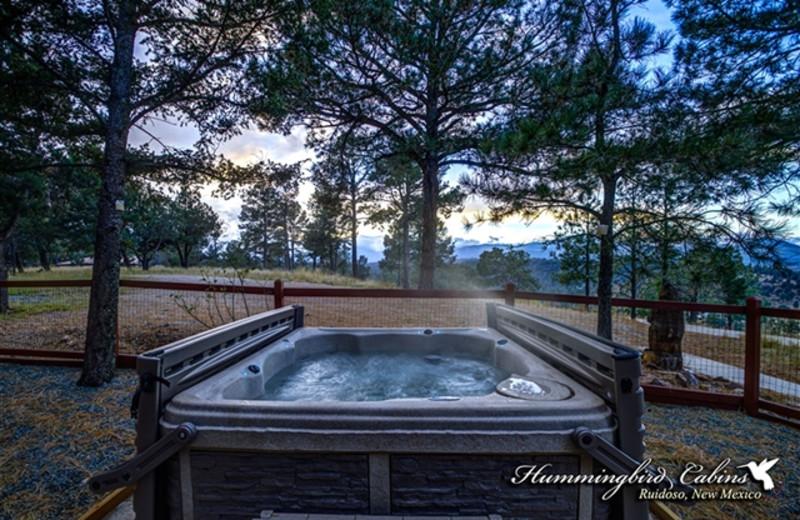 Whirlpool tub at Hummingbird Cabins - Holly House Vacation Rental