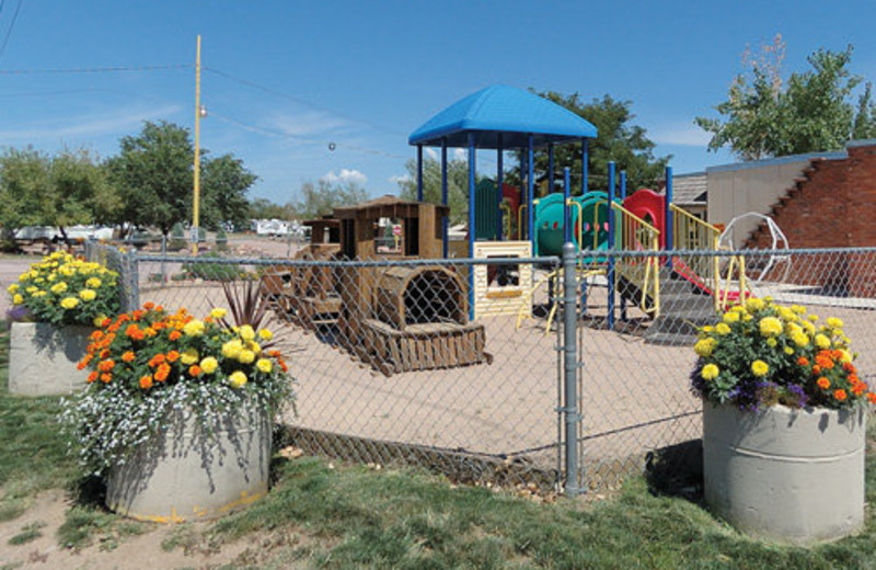 Children's playground at Colorado Springs KOA.