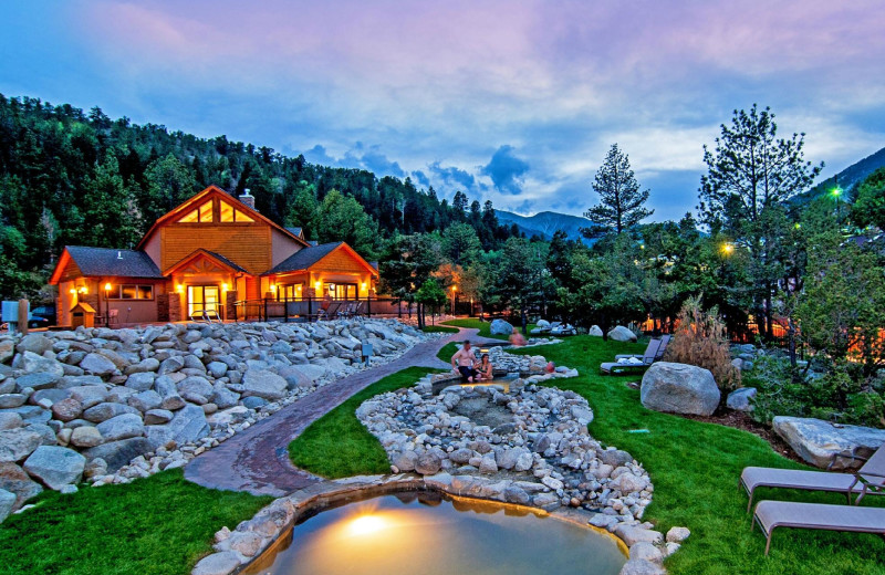 Exterior view of Mt. Princeton Hot Springs Resort.