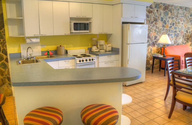 Guest kitchen at Bluebeard's Castle Resort.